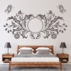 Floral Butterfly Design Butterflies & Insect Wall Stickers Home Decor Art Decals