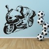 Sports Motorbike Motocross Motorbike Wall Stickers Transport Decor Art Decals