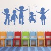 Children Playing Playtime People And Faces Wall Stickers Home Decor Art Decals
