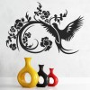 Floral Bird Intricate Birds & Feathers Wall Stickers Home Decor Art Decals