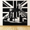 Tower Bridge in London On Union Jack United Kingdom Wall Stickers Home Art Decal