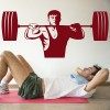 Weightlifting Torso And Weights Athletics Wall Stickers Gym Home Decor Art Decal