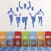 Marathon Runners Silhouette Athletics Wall Stickers Gym Home Decor Art Decals