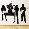 Band On Stage Rock Indie Musicians & Band Logos Wall Stickers Music Art Decals