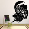 Steam Train And Tunnel Railway Trains Wall Stickers Transport Decor Art Decals