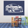 Porsche Carrera With Frame Car Wall Stickers Transport Decor Art Decals