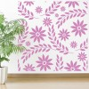 Flowers And Petals Square Pattern Floral Design Wall Stickers Home Art Decals