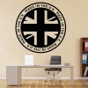 Made In The UK Circular Badge United Kingdom Wall Stickers Home Decor Art Decals