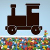 Cartoon Toy Train Silhouette Trains Wall Stickers Transport Decor Art Decals