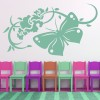 Butterfly And Flowers Butterflies & Insect Wall Stickers Home Decor Art Decals