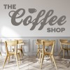 The Coffee Shop Quote Sign Banner Food And Drink Wall Sticker Kitchen Art Decals