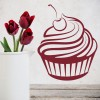 Cherry Cupcake Dessert Cafe Food And Drink Wall Stickers Kitchen Art Decals