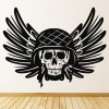Skull Army Wings Decorative Patterns Wall Stickers Home Decor Art Decals