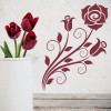Roses Swirls And Leaves Flowers And Trees Wall Stickers Home Decor Art Decals