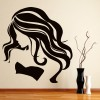 Wild Wavy Hair Female Profile People And Faces Wall Sticker Home Decor Art Decal
