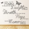 May This Home Be Blessed Family & Friends Quotes Wall Stickers Home Art Decals