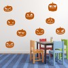 Pumpkin Set Haunted Kids Halloween Wall Stickers Seasonal Home Decor Art Decals
