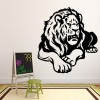 Lion Profile King Of The Jungle Wild Animals Wall Stickers Home Decor Art Decals