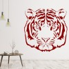 Classic Tigers Head Big Cat Portrait Wild Animals Wall Stickers Home Art Decals
