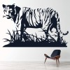 Tiger Standing In Grass Jungle Big Cat Wild Animals Wall Sticker Home Art Decals