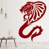 Tribal Cobra With Fangs Serpent Snake Wild Animals Wall Stickers Home Art Decals