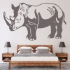 Rhino Profile African Rhinoceros Wild Animals Wall Sticker Home Decor Art Decal