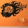 Skull With Gears And Cogs Halloween Wall Stickers Seasonal Home Decor Art Decals