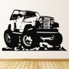 Cartoon Jeep Land Rover 4x4 Car Van Wall Stickers Transport Decor Art Decals