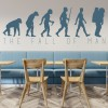 The Fall Of Man Silhouette Decorative Patterns Wall Sticker Home Decor Art Decal