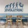 Snowboarding Evolution Ape To Man Winter Sports Wall Sticker Gym Sport Art Decal