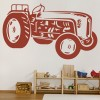 Vintage Tractor Industrial Machines Wall Stickers Construction Decor Art Decals