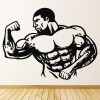 Bodybuilder Pose Cartoon Torso Athletics Wall Stickers Gym Home Decor Art Decals