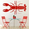 Lobster Classic Sea Life Under the Sea Wall Stickers Bathroom Decor Art Decals
