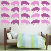 Pig Silhouette Farmyard Animals Creative Multipack Wall Stickers Home Art Decals