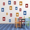 Spade Cards Card Games Creative Multipack Wall Sticker Entertainment Decals