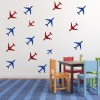 Aeroplane Group Aeroplanes Creative Multipack Wall Stickers Transport Art Decals