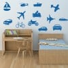 Vehicle Group Car Van Motorbike Creative Multipack Wall Sticker Transport Decals