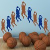 Basketball Player American Sports Multipack Wall Stickers Gym Home Art Decals