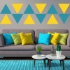 Plain Triangles Educational Creative Multipack Wall Stickers School Art Decals