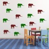 Elephant Silhouette Wild Animals Creative Multipack Wall Stickers Home Art Decal
