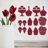 Cake Group Food And Drink Creative Multipack Wall Stickers Kitchen Art Decals