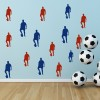 Football Player Pose Football Creative Multipack Wall Stickers Sport Art Decals