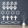 Religious Set Religion And Peace Creative Multipack Wall Stickers Home Art Decal