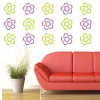 Flower Outline Flowers And Trees Creative Multipack Wall Sticker Home Art Decals