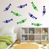 Trumpet Musical Notes & Instruments Creative Multipack Wall Stickers Art Decals