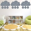 Cartoon Rain Drop Decorative Patterns Creative Multipack Wall Stickers Art Decal