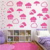 Clouds Storm Decorative Patterns Creative Multipack Wall Stickers Home Art Decal