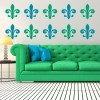 Classic Fleur De Lis Decorative Patterns Creative Multipack Wall Stickers Decals