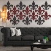 Fleur De Lis Decorative Patterns Creative Multipack Wall Sticker Home Art Decals