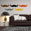 Classic Moustache People And Faces Creative Multipack Wall Stickers Home Decals